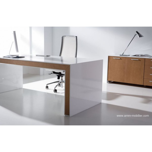 bureau chene et blanc