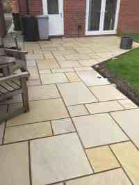 Mint Sawn Rectangle Paving Slabs Indian Sandstone Patio ...