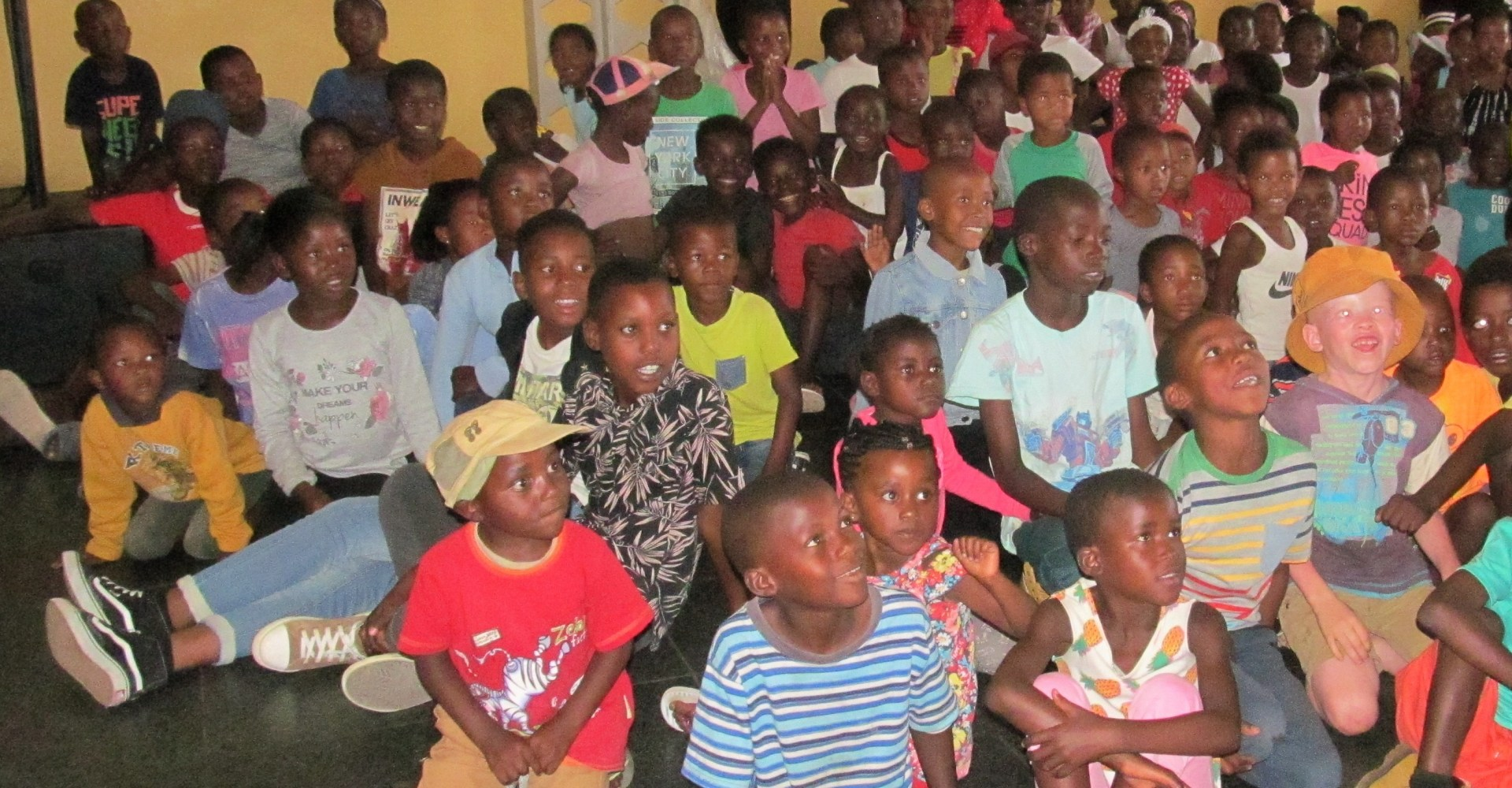 Big surprise for 300 children