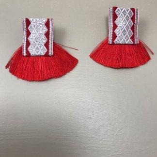 Mado Red Earrings
