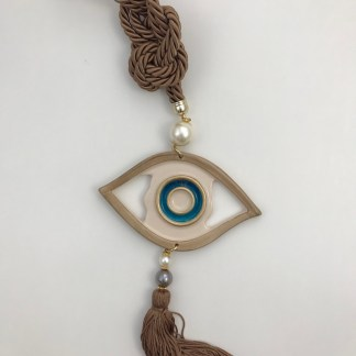 Beige Hanging Evil Eye