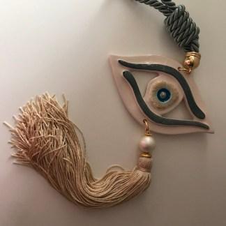 Beige Ceramic Eye