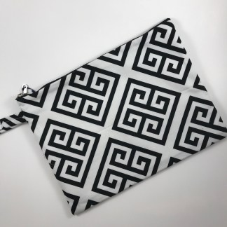 Black Meander Pouch