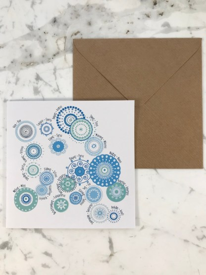 Cycladic Islands Card