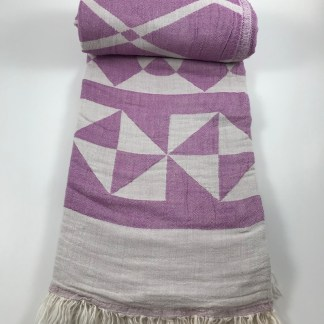 Purple Chios Beach Towel