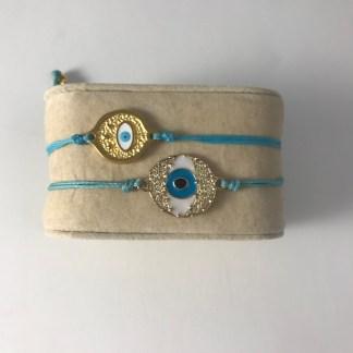 Gold Eye Bracelet Main