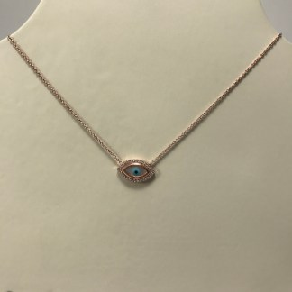 Large Rose Gold Delos Necklace
