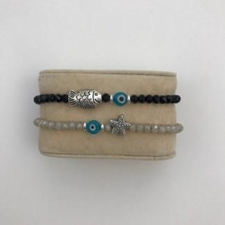 Silver Ocean Charm Bracelets