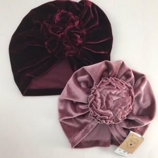 Flower Velvet Baby Hat