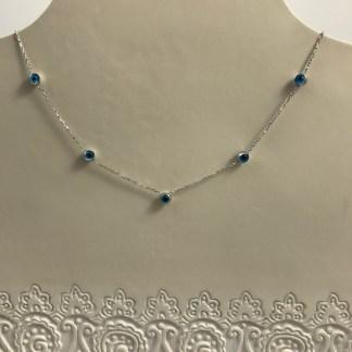 Multi Mati Necklace Silver