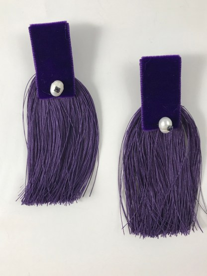 Theano Purple Earrings