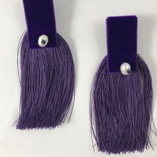 Theano Purple Earrings