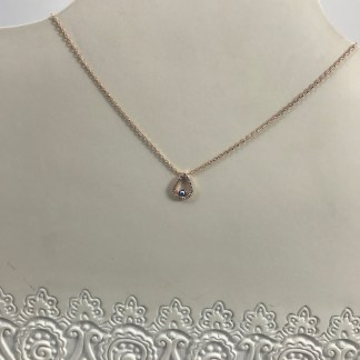 Open Rose Gold Teardrop Necklace