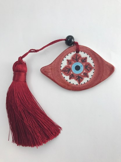Red Star Evil Eye Charm