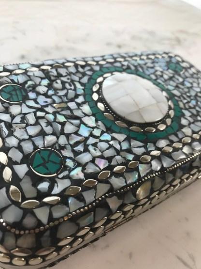 Mosaic Purse White Stone Alt