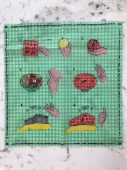 Green Beeswax Wrap