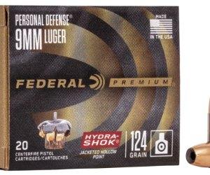 Buy Federal Premium Centerfire Handgun Ammunition 9mm Luger 124 grain Online