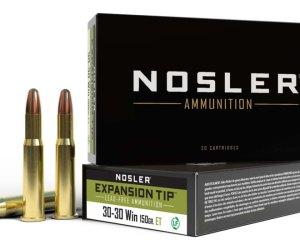 Nosler .30-30 Winchester 150 Grain E-Tip Lead-Free Brass Cased Centerfire Rifle Ammunition 200rnd