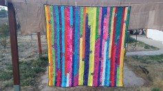 Rainbow Jelly Roll Quilt