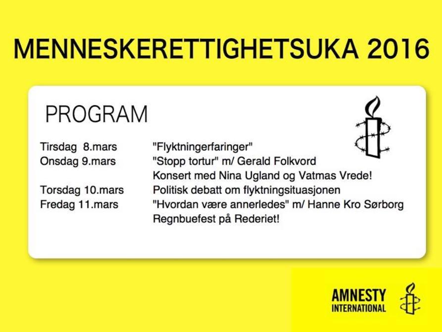 Menneskerettighetsuker Amnesty International Norge