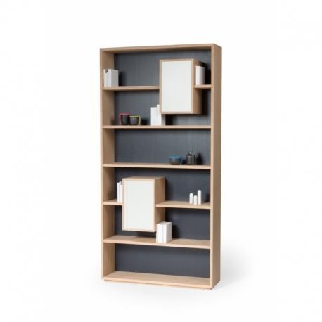 bibliotheque de style scandinave avec blocs de rangement mixage 100
