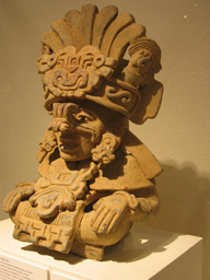 Hollow Urn Figure,  300 B.C. - 300 A.D.  Zapotec Culture: Monte Alban III Mexico: Oaxaca Private Collection