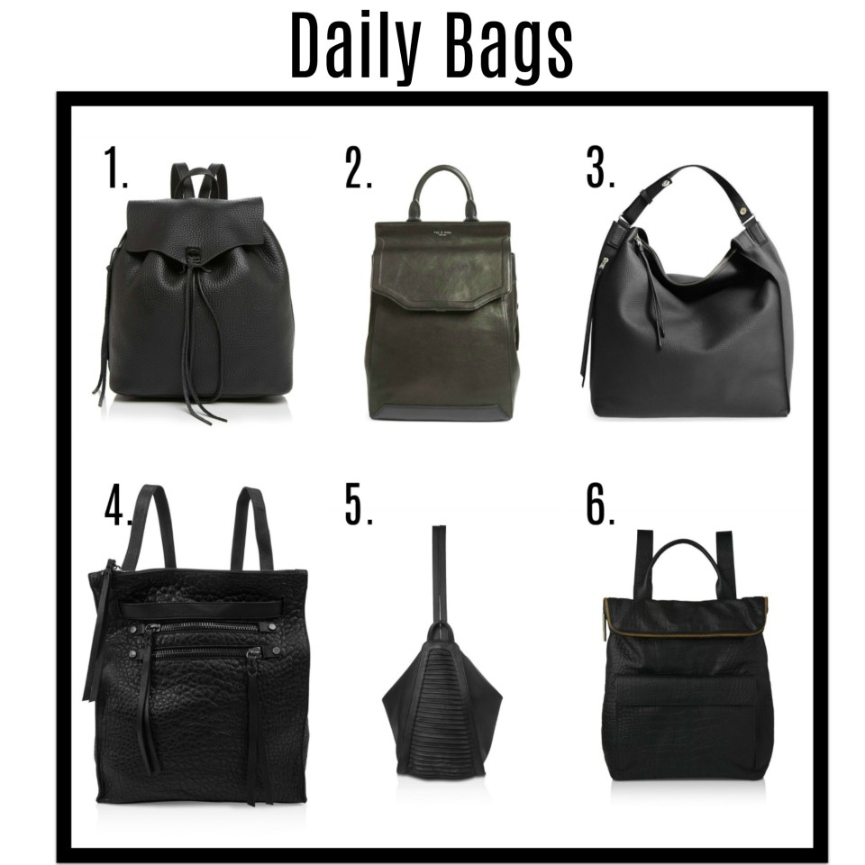 Daily Bags with text