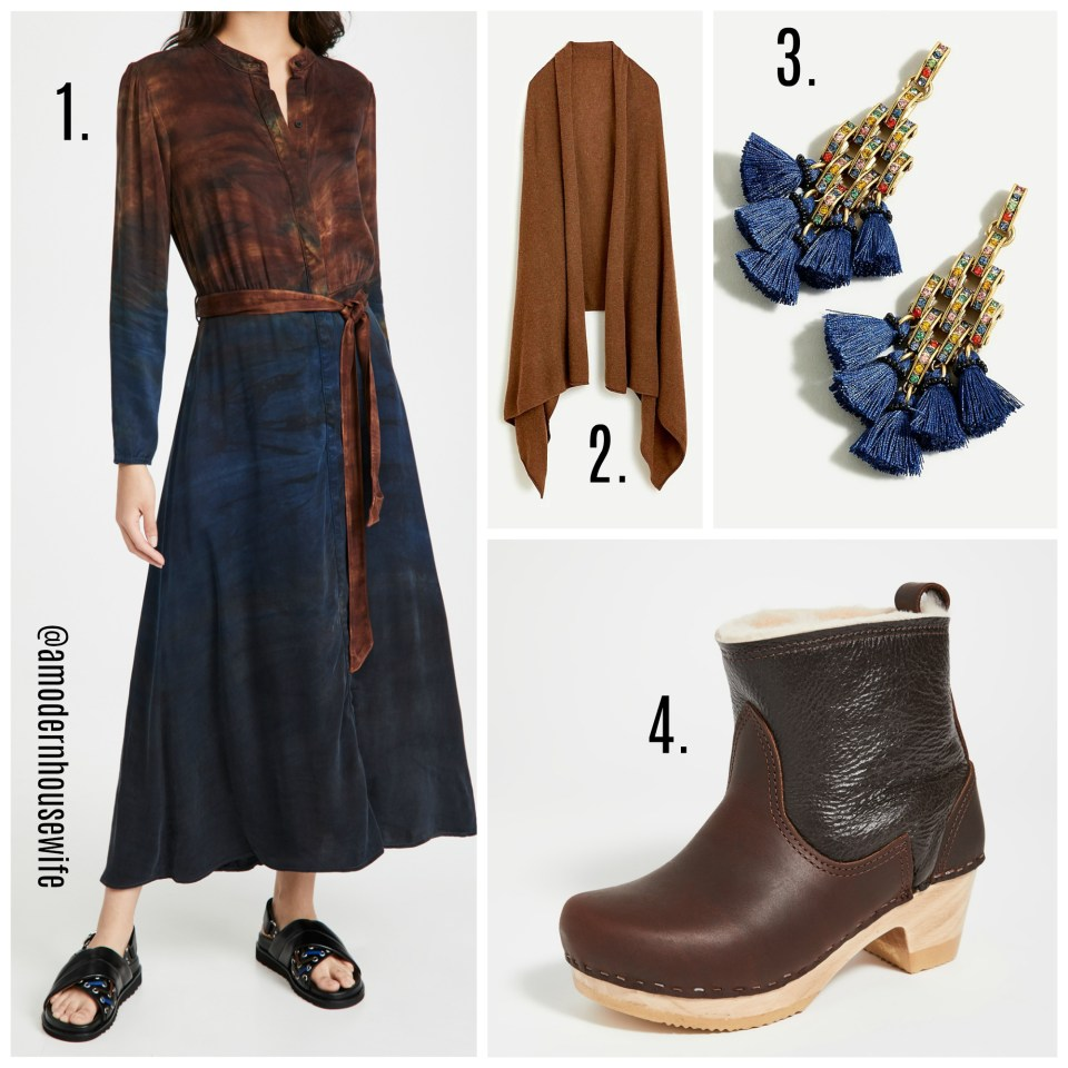 maxi with clog boots