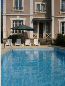 The suntrap by the pool - great for relaxing
