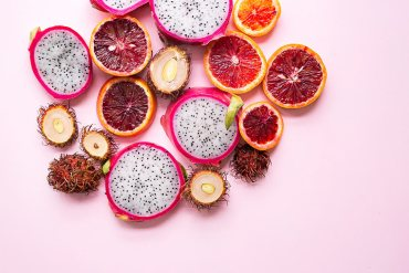 Dragonfruit, blood orange,