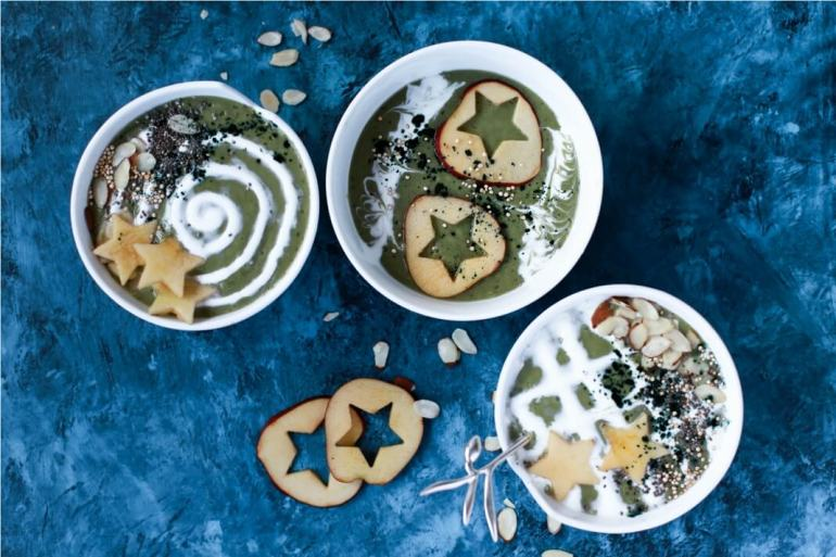Picture of winter-inspired smoothie bowls
