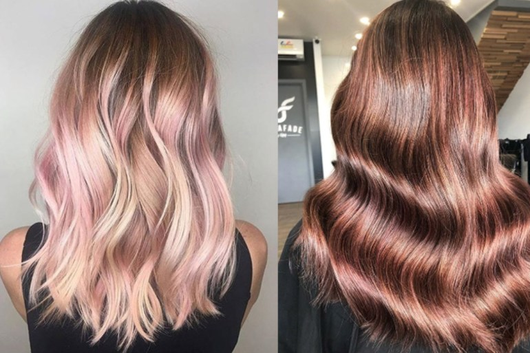 Rose Gold Is The New Metallic Hair Trend We Re Obsessed With