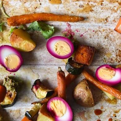 pickled eggs roast vegetables