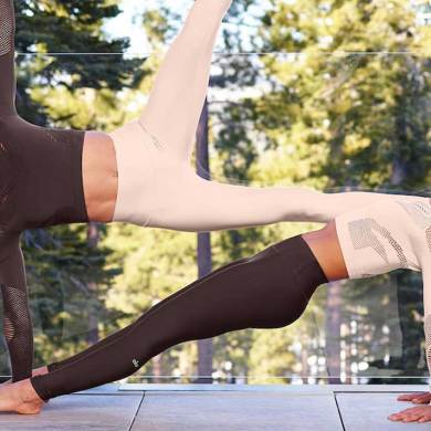 music to improve fitness results, alo yoga in the woods