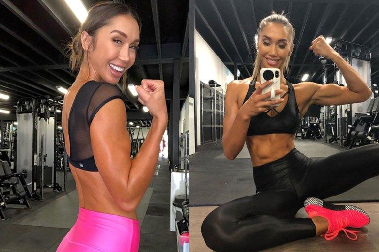 chontel duncan sweat trainer upper body workout
