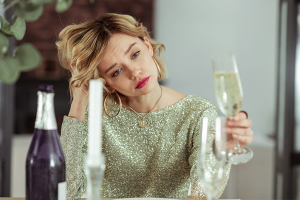 how to trust again, woman drinking champagne