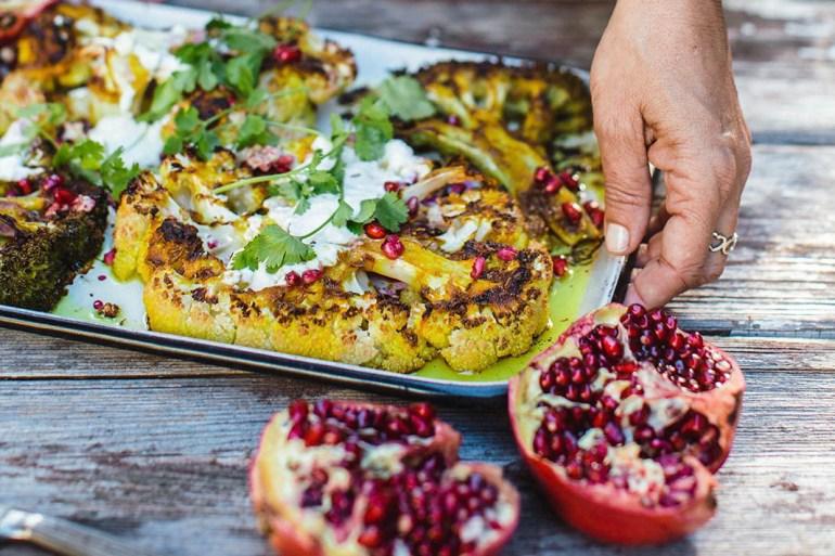 Meatless Monday Recipe: Cauliflower Steak & Baked Broccoli