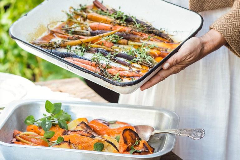 Happy Gut Recipe: Sweet Lemon Thyme Roasted Carrots