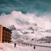 winter wellness destinations, ski lodge in snow