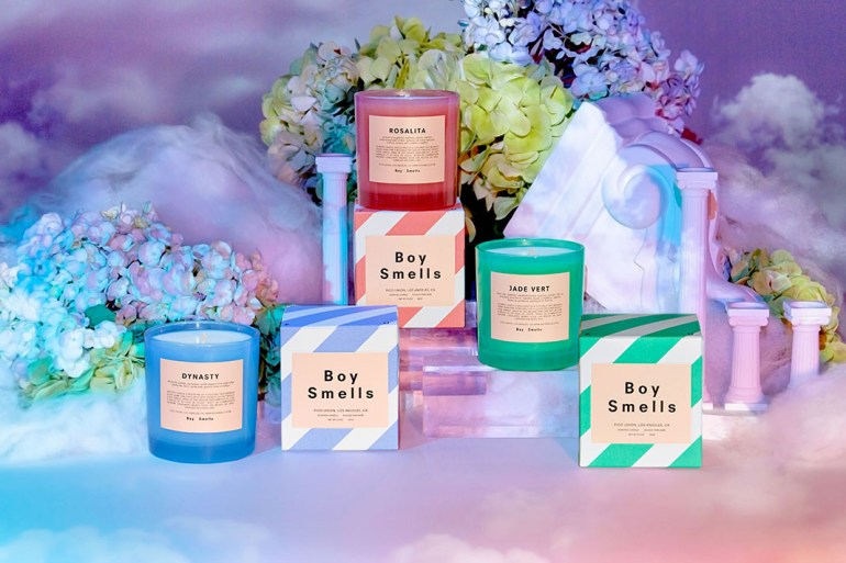 boy smells valentines day candle launch