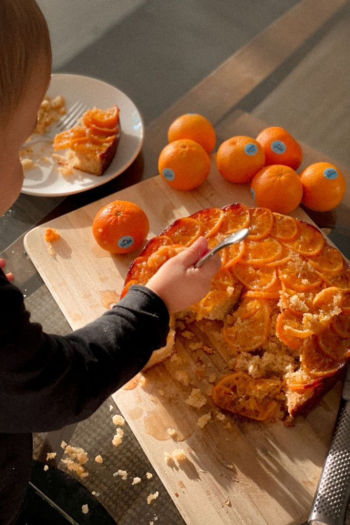 Upside down mandarin cake by bianca cheah