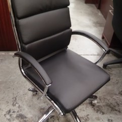 Alera Office Chairs Gold Folding Chair Covers Neratoli Mid Back Modern Black Soft Touch Leather Chrome A M Supply