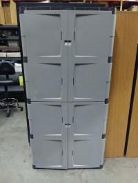 Storage Cabinet, Rubbermaid 4-Door/4-Shelf Full Height ...