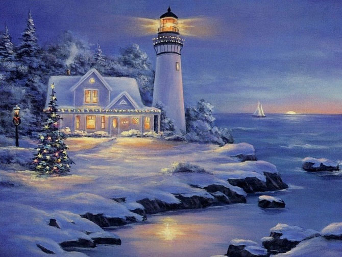 Pictures Beautiful Christmas Paintings Amazing Funny
