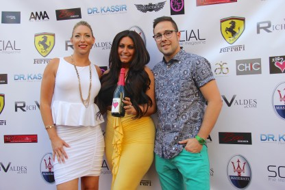 Tracy DiMarco (Jerseylicious Style Network) with Chic Wine and Latidos De Vino