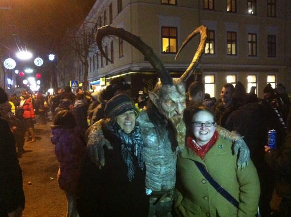 Krampus at a festival in Vienna
