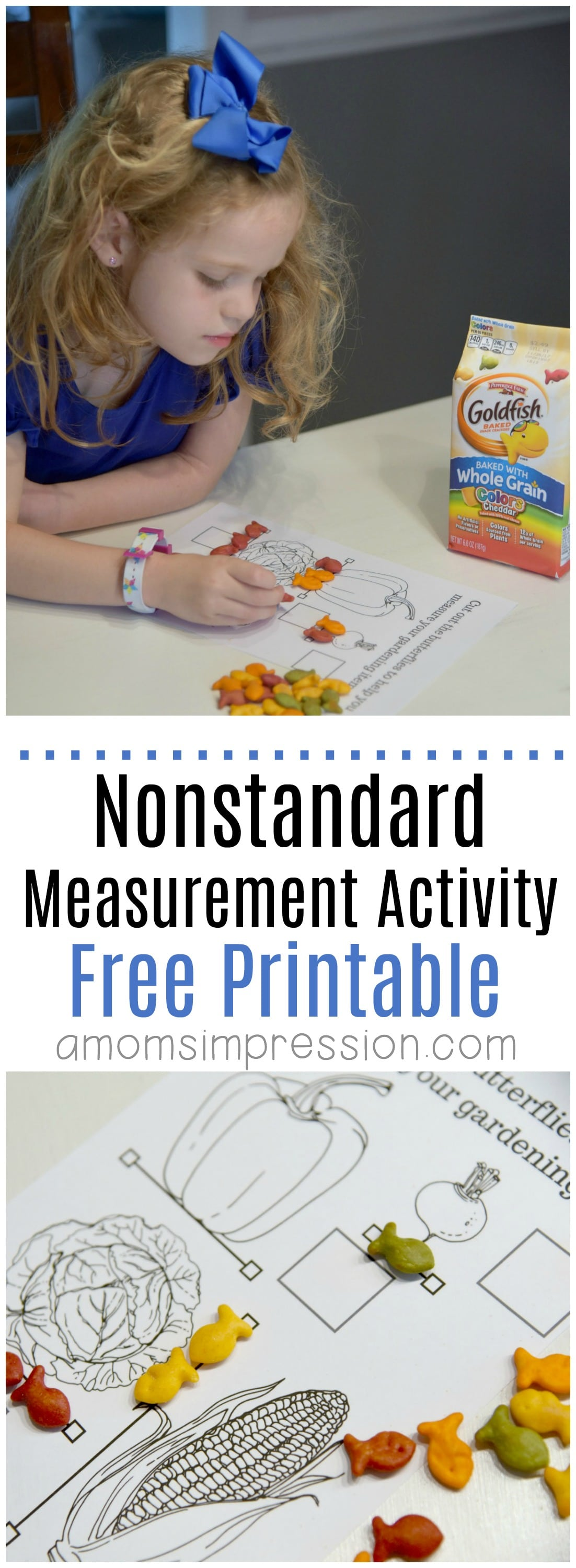 Having Fun With Nonstandard Measurement Plus Free Printable