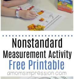Nonstandard Measurement Worksheets   Printable Worksheets and Activities  for Teachers [ 3000 x 1102 Pixel ]