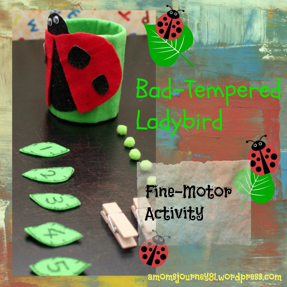 'Feed the Ladybird': Fine-Motor Activity for Toddlers (2/6)