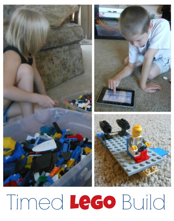 Timed Lego Build: Tips and prompts for timed building play!